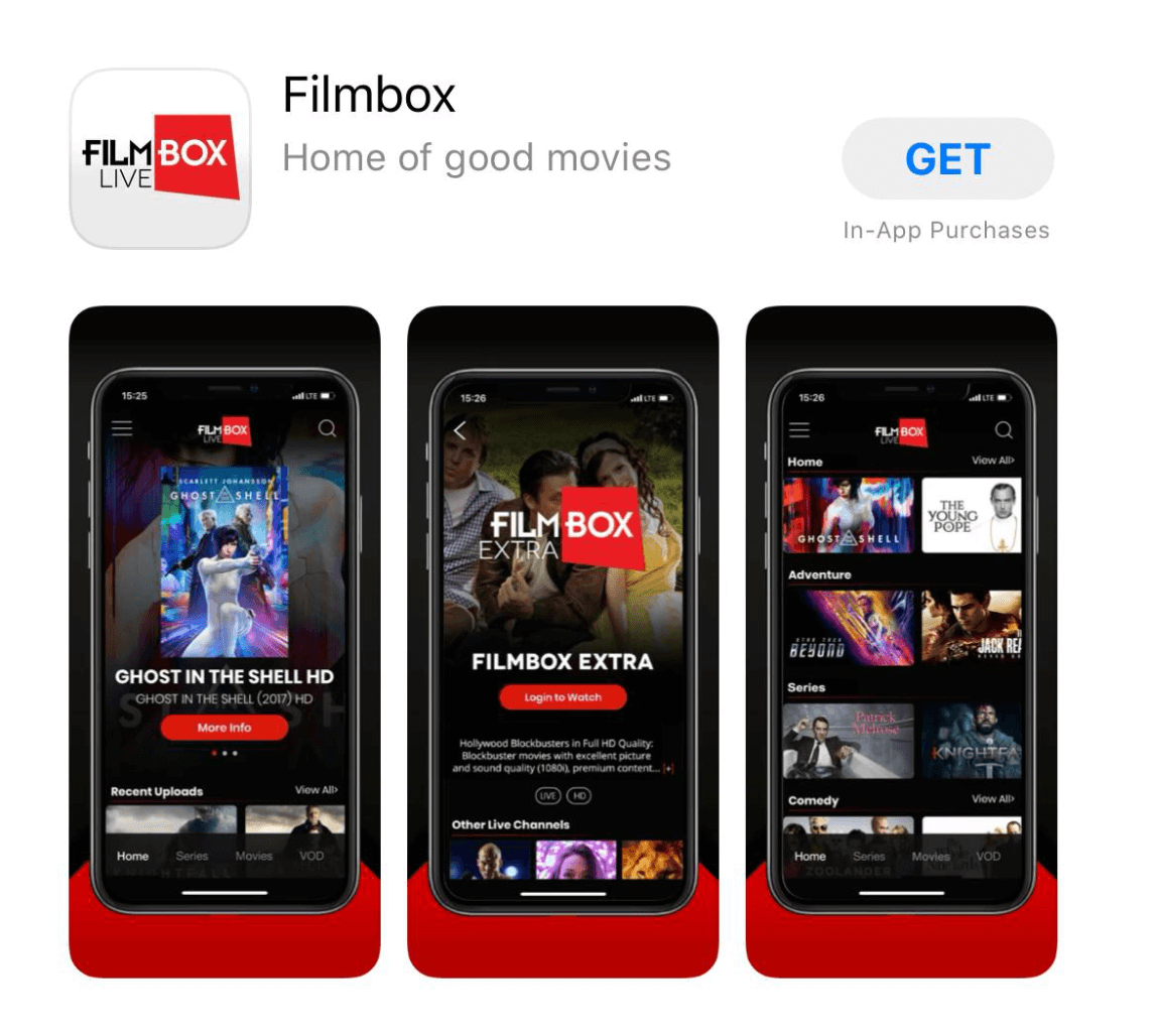 Filmbox Live Apple App Store