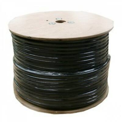 Koax kábel RG6 réz Trishield 305m-es dob, fekete