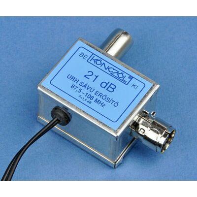 URH sávú erősítő 87,5-108 MHz 21 dB (Könczöl)