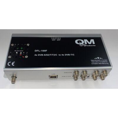 DFL-100F 4xDVB-S-T-C to 4xDVB-T-C mini fejállomás