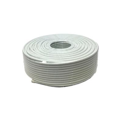 Koax kábel RG6 Trishield réz belső érrel fehér színben