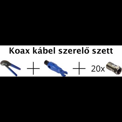 Koax kábel szerelő szett